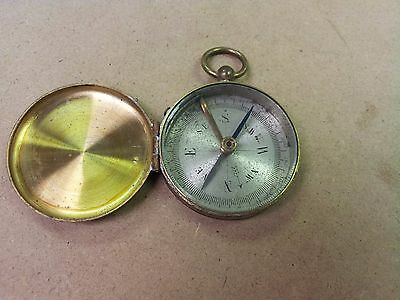 ^ Vintage Working Brass Compass w/ Lock