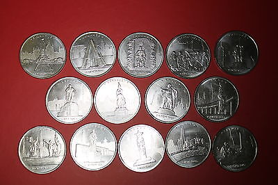 New SET Russia coins 2016 UNC 5 rubles 14 pcs-capital city of countries liberate