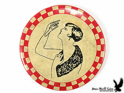 1920's Flapper Girl Naughty Risque Metamorphic Pocket Mirror Celluloid Antique