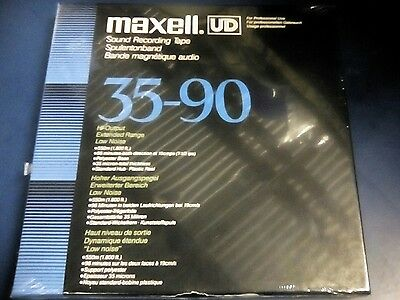 """New Sealed Box Maxell Ud 35-90 Hi-Output Extended Range Low Noise 7"""" Reel 1/4"""""""