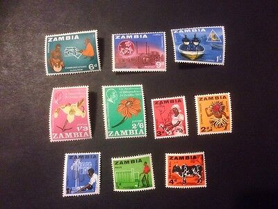 Zambia - M/N/H Unchecked For Values (a194)