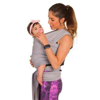Baby Wrap Carrier Sling Moby Stretchy by TA BABY 100% Soft Cotton Gray + EBook