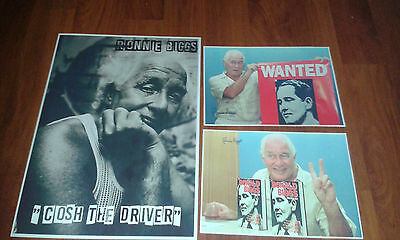 Ronnie Biggs Poster & Signed Pictures - The Great Train Robbery 1963. Crime.