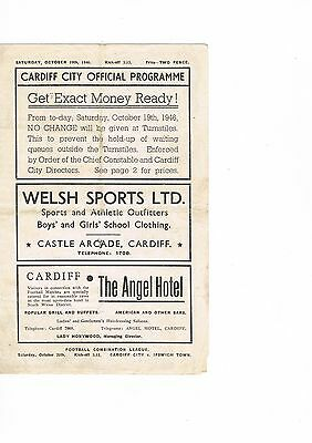Cardiff City v Queens Park Rangers 46/7