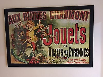 French Art Poster Vintage Style As Seen On Friends Framed