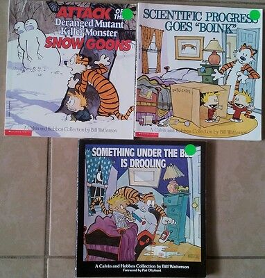 Lot of 3 Calvin and Hobbes Books by Bill Watterson