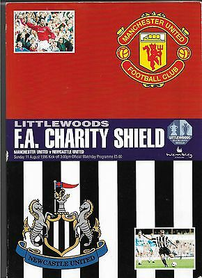 1996 FA Charity Shield Programme Manchester United v Newcastle United 11/8/96