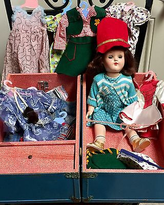 Ideal Toni P 91 Doll Original Metal Trunk with Lots of Clothes
