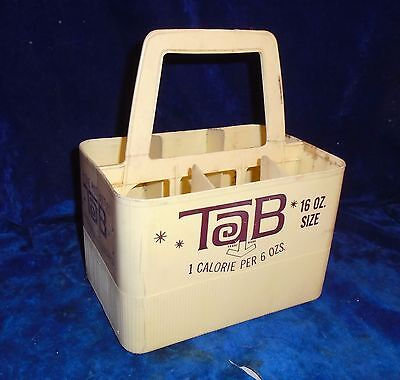 Vintage Tab 1 Calorie Plastic Six Pack Carrier, By Coke