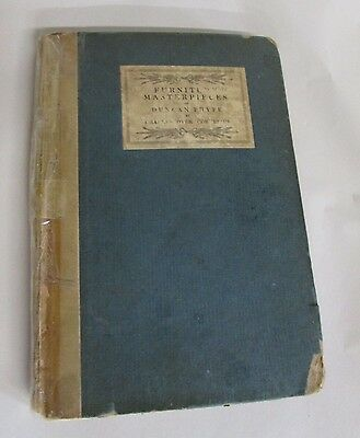 "Furniture Masterpieces Of Duncan Phyfe"" New York Rare First Edition Circa 1922"