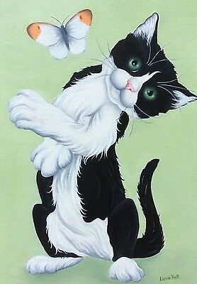 cat kitten original oil painting by artist Lizzie Hall