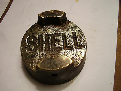 Vintage shell petrol can cap