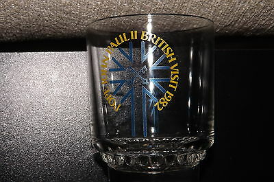 1982 Whisky Glass To Celebrate The British Visit Of Pope John Paul 11