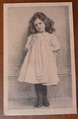 """Vintage Postcard, Young Girl, """"Artistic Series"""", W McKenzie & Co - Posted 1905"""