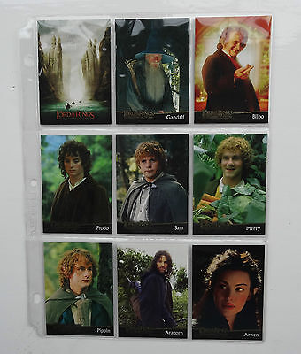 Lord of the Rings Fellowship of the Ring Full Trading Card Set