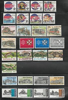 New Zealand, 6 Mint & Used Sets On Scan