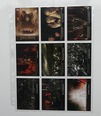 Lord Of The Rings Fellowship Of The Ring Full 72 Update Card Set