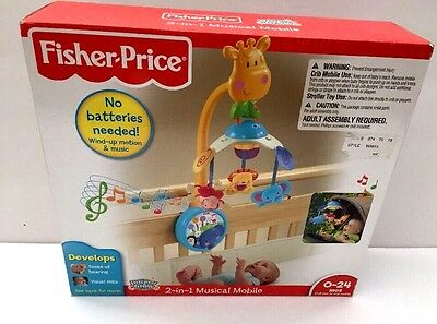 Fisher-Price Discover n Grow 2-in-1 Musical Mobile Discontinued Zoo Animals