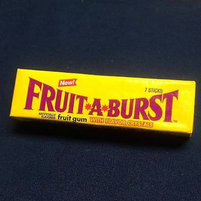 Vintage 7 Stick Pack Fruit A Burst Chewing Gum Full Warner-Lambert