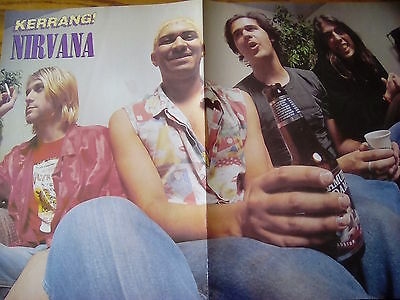 Kurt Cobain Nirvana or Vedder Pearl Jam Double Page Poster to Frame Kerrang