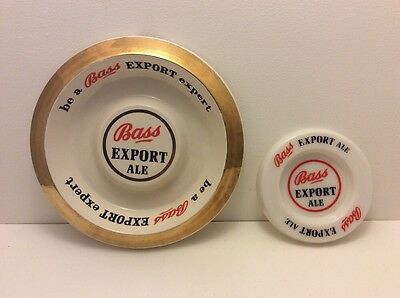 Vintage Bass Export Adverting Ashtrays