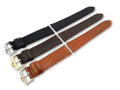 Leather Watch Strap Band for Omega Snake Look Vintage Buckle Clasp 18 19 20 mm