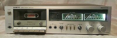 Vintage Onkyo Stereo Cassette Tape Deck/recorder/made In Japan