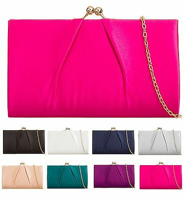 Silk Satin Party Prom Evening Wedding Bridal Clutch Handbags