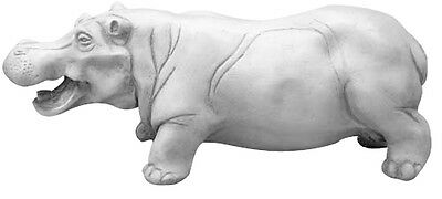 Hippo Statue Sculpture 20.5""