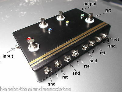 Quad 4 Channel Looper Pedal Effects Send/Receive True Bypass