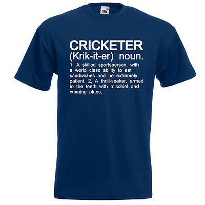 CRICKETER Funny Men's T-Shirt Cricket Player Definition Gift