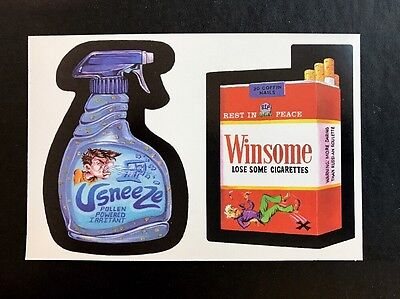 Topps Wacky Packages LOST WACKYS Series 1 Double Strip SNEEZE / WINSOME