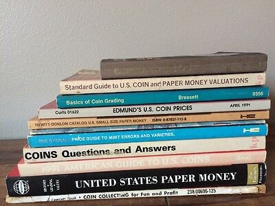 Paper Money Currency Coin Guide Catalog Book Set Lot
