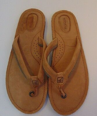 Sperry Top Sider Women's Leather Flip Flop Sandals Size 9