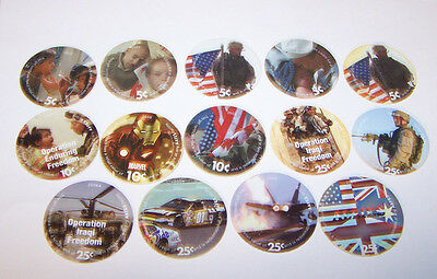 Lot  of 14  AAFES  Pogs  in  Find  to A.U.  condtion