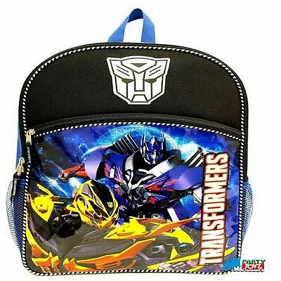 "Transformers Large 16"" Cloth Backpack Book Bag Pack - Black"