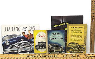 5 pc 1949 Buick Dealers Salesman Selling Points Facts Brochures Special Manual