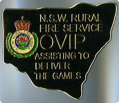 Revised - Sydney 2000 Olympic Games - Rural Fire Service - Black - Gold Pin