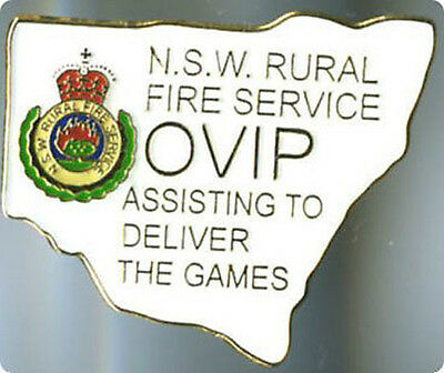 Sydney 2000 Olympic Games Australia - Rural Fire Service - White - Gold Pin