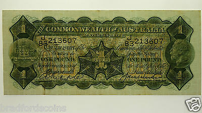 1927 One Pound Riddle / Heathershaw Banknote In Almost Very Fine Condition