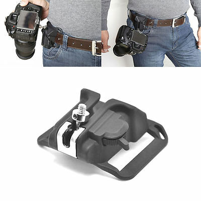 !!New Camera Holster Waist Belt Buckle Button Fast Loading for All SLR Camera
