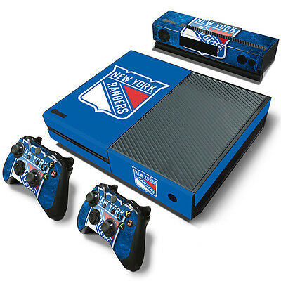New York Rangers Sticker Decal Skin For Xbox One + 2 Controllers & Kinect