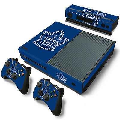 Toronto Maple Leafs Sticker Decal Skin For Xbox One + 2 Controllers & Kinect