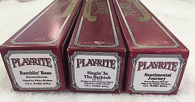 PLAYRITE PIANO ROLLS LOT OF (3) 110a, 179a, 14a Excellent Playable Condition