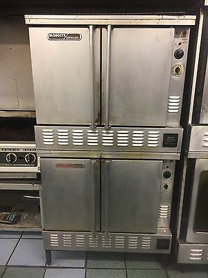 Blodgett Zephaire Full Size Double Stack Convection Oven Natural Gas