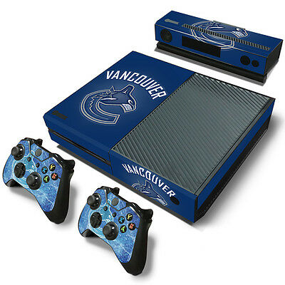 Vancouver Canucks Sticker Decal Skin For Xbox One + 2 Controllers & Kinect