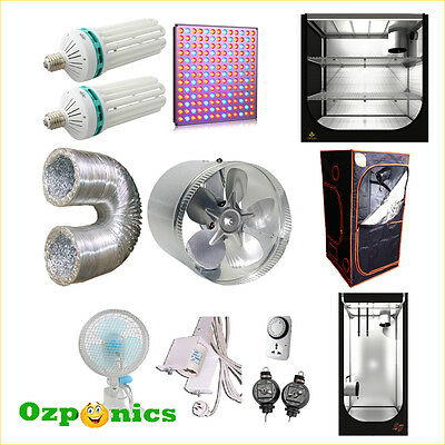 Hydroponics Grow Tent Room Cfl Led Grow Light Lamp Inline Exhaust Fan Kit