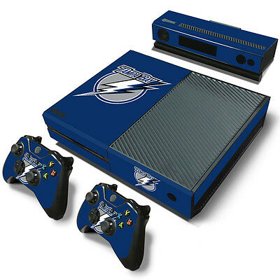 Tampa Bay Lightning Sticker Decal Skin For Xbox One + 2 Controllers & Kinect