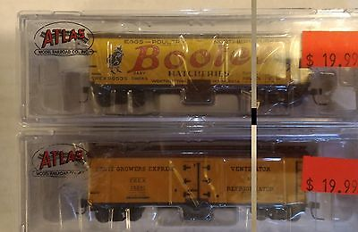 NIB N Scale Atlas Boote's and FGE Reefer cars