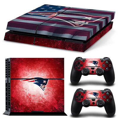 New England Patriots Sticker Decal Skin For PS4 Console + 2 Controllers